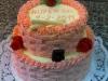 Růžový máslový koš č.33