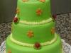 Zelený s brouky a květinami č.37